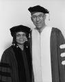 Sonia Sanchez and Richard J. Fox at the 1998 Temple University commencement