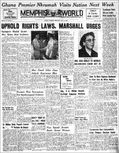 Memphis World, 1958 July 16th