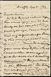 Letter to] Dearest Annie [manuscript