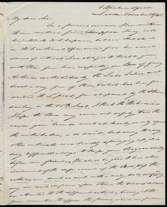Letter from Joseph Lupton, Leeds, [England], to Samuel May, November 16, 1848