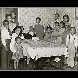 Family celebration, three generations