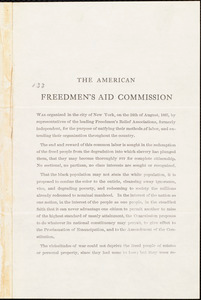 The American Freedmen's Aid Commission