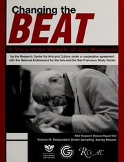 Changing the beat : a study of the worklife of jazz musicians, v.3