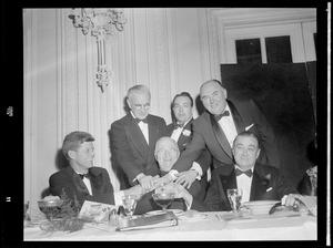 Harry Truman with JFK, Gov. Dever & Boston pols
