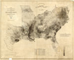 Map showing the distribution of the slave population of the southern states of the United States. Compiled from the census of 1860 / Drawn by E. Hergesheimer. Engr. by Th. Leonhardt