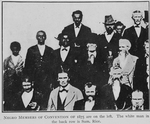 Negro members of Convention of 1875 are on the left. The White man in the back row is Sam Rice