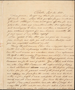 Letter from Isaac Knapp, Boston, [Massachusetts], to William Lloyd Garrison, 1838 Sept[ember] 12