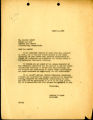 Acknowledgment letter of 1947 March 4
