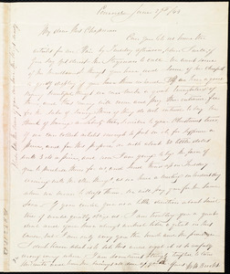 Thumbnail for Letter from Mary Merrick Brooks, Concord, [Mass.], to Maria Weston Chapman, June 27th / [18]43