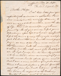 Letter from Samuel Osgood, Springfield, to Amos Augustus Phelps, May 11. 1840