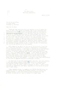 Letter from Paul Partington to W. E. B. Du Bois