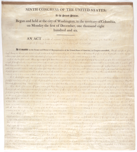 An Act of March 2, 1807, 9th Congress, 2nd Session, 2 STAT 426, to Prohibit the Importation of Slaves in Any Port or Place within the Jurisdiction of the United States, from and after the First Day of January 1808