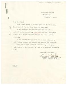 Letter from Bernard Milton Jones to W. E. B. Du Bois