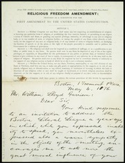 Letter to] Mr. William Lloyd Garrison, Dear Sir [manuscript