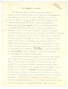 The Rosenwald conference