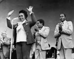 Coretta King at rally