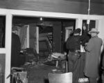 Interior of Fred Shuttlesworth's house the night it was bombed.