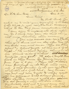 Letter from Anna H. Jones to W. E. B. Du Bois