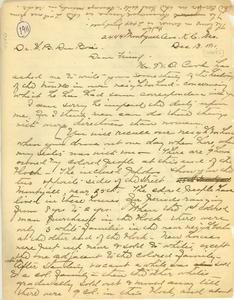 Letter from Anna H. Jones to W. E. B. Du Bois