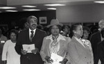 A.C. Bilbrew Library event participants in a crowd, Los Angeles, 1983
