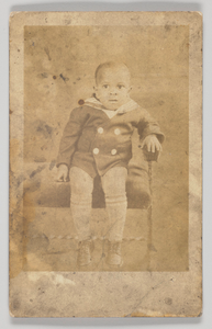 Photographic postcard of an unidentified young boy