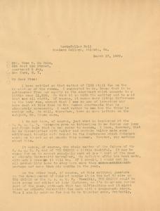 Letter from W. E. B. Du Bois to Nina Du Bois