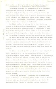 Speech honouring Du Bois