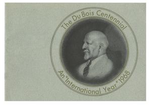 Du Bois centennial: An international year