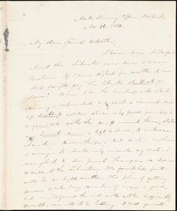 Letter from Elizur Wright, Anti Slavery Office, New York, [New York], to William Lloyd Garrison, 1834 Nov[ember] 12