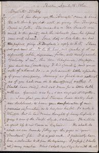 Letter from Samuel May, Jr., Boston, to Richard Davis Webb, April 15 and 16, 1860