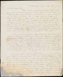 Letter from Lester Anson Miller, Windsor, [Vt.], to William Lloyd Garrison, Sept[ember] 5th 1832