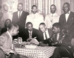 Photograph of Donald Clark, Charles Kellar, and Joe Williams at El Capitan