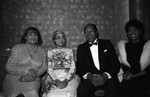 Rosa Parks, Tom and Ethel Bradley, and Maxine Waters during a Black Wormen's Forum event, Los Angeles, 1989