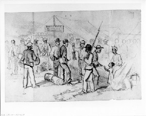 The Fish Market, City Point, Va (Siege of Petersburg)