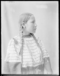 Side view of Indian woman, Mrs John Stanton. Oklahoma. U.S. Indian school 1904