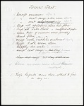James Gant List of Duties 1900