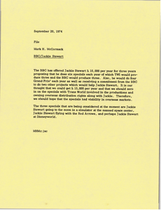 Memorandum from Mark H. McCormack to file
