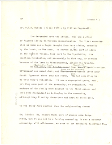 Oral history interview of W. E. B. Du Bois by William Ingersoll