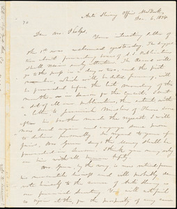 Letter from Elizur Wright, New York, to Amos Augustus Phelps, 1834 Dec[ember] 6