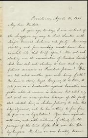 Letter to] My dear Wendell [manuscript
