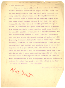 Thumbnail for Letter from W. E. B. Du Bois to Executive Committee of the Niagara Movement