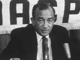 Press conference with Cecil B. Moore