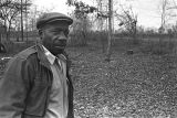 Roosevelt Bracy standing outside on the property where his new house will be built in Elmore County, Alabama.