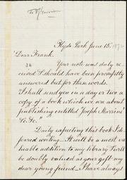 Letter to] Dear Frank [manuscript
