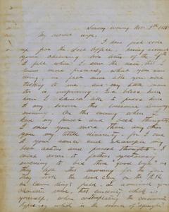 Letter: [Marion, Alabama] to Callie King, 1856 Nov. 9