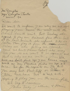 Letter: to Charles Henry Douglass, Jr., Macon, Georgia, possibly 1925