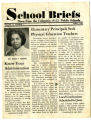 A copy of School Briefs: News from the Columbia (S.C.) Public School, Vol. 13, No. 7, featuring Martha Monteith as the administrator of interest for the issue