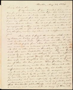 Letter from William Lloyd Garrison, Boston, [Mass.], to George Benson, May 31, 1834