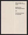 Big Butt Girls, Hard-Headed Women/The Circle Unbroken is a Hard Bop [production records] (Box 1, Folder 5)