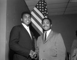 Muhammad Ali and Mervyn Dymally